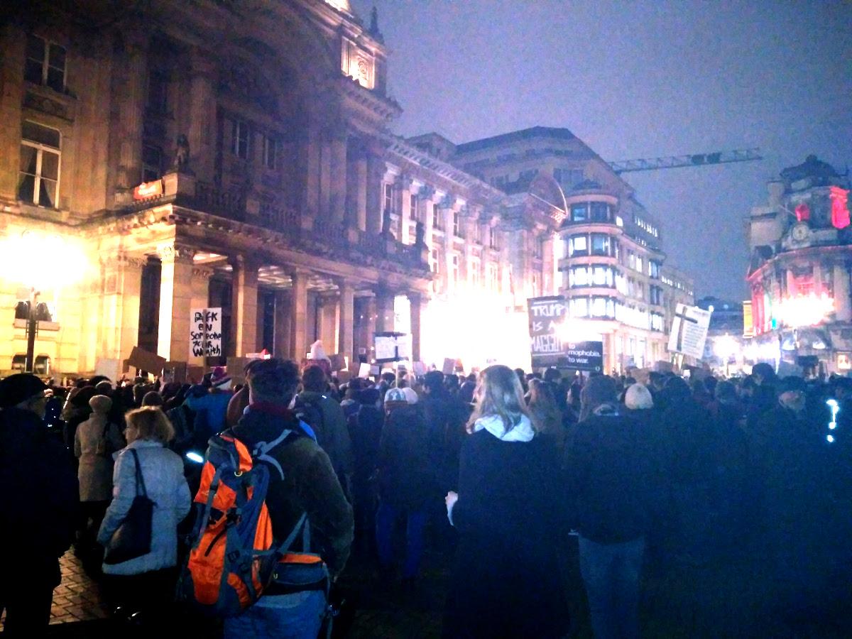 Anti-Trump protest in Victoria Square, 30th January 2017