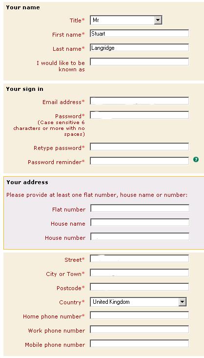 Post Office flawed login form