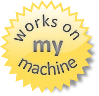 Works on my machine (logo)