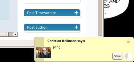 Christian Heilmann sends me a message