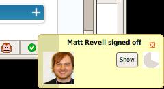 Tiny Matt Revell signs off