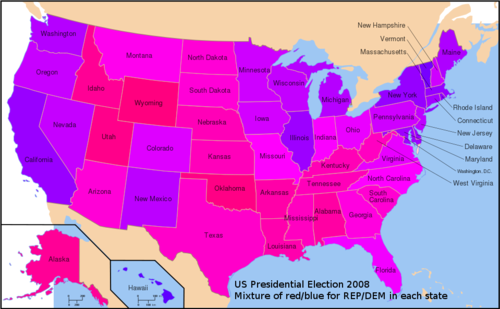 the purple map